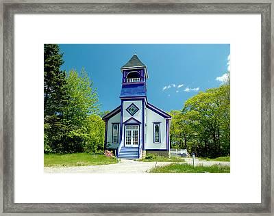 Colorful Church Framed Print by Cathy Kovarik