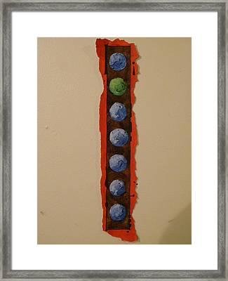 Colorful Circles Seven Framed Print