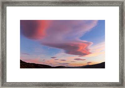 Colorful Clouds Over Wicklow Mountains Framed Print by Semmick Photo