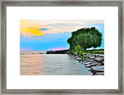 Colorful Coastline Framed Print