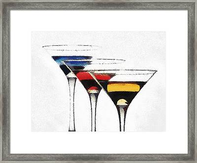 Colorful Cocktails Framed Print by Georgi Dimitrov