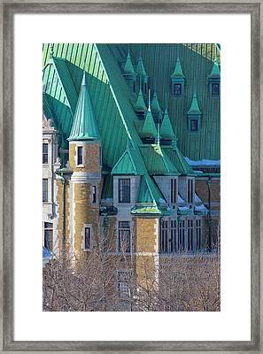 Colorful Colonial Building, Quebec City Framed Print