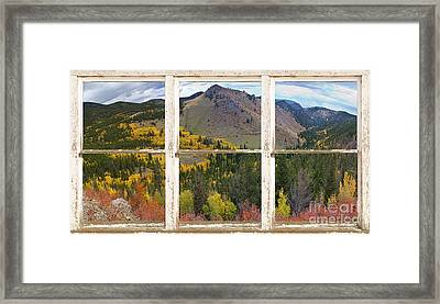 Colorful Colorado Rustic Window View Framed Print