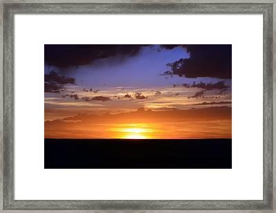 Colorful Colorado Sunset Framed Print by Clarice  Lakota