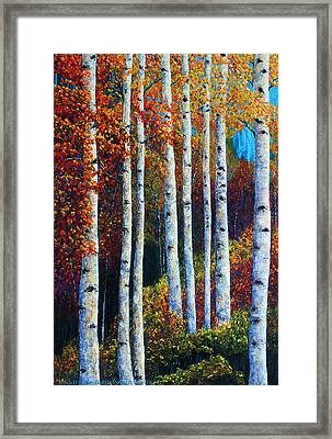 Colorful Colordo Aspens Framed Print