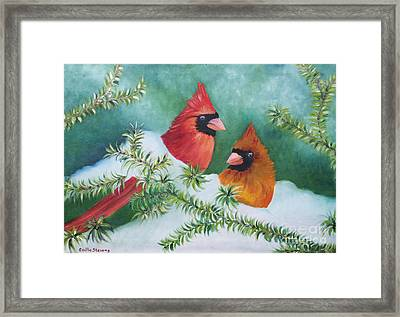 Colorful Companions Framed Print by Cecilia Stevens