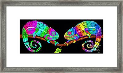 Colorful Companions Framed Print