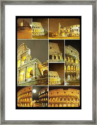 Colorful Composition Made Of Colosseo Framed Print