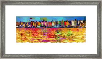 Colorful Coney Island Framed Print