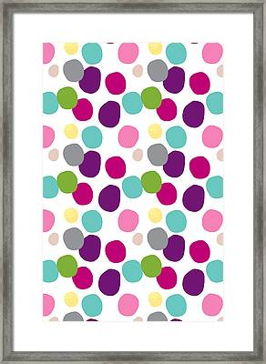 Colorful Confetti 2 Framed Print by Linda Woods