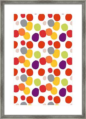 Colorful Confetti  Framed Print by Linda Woods