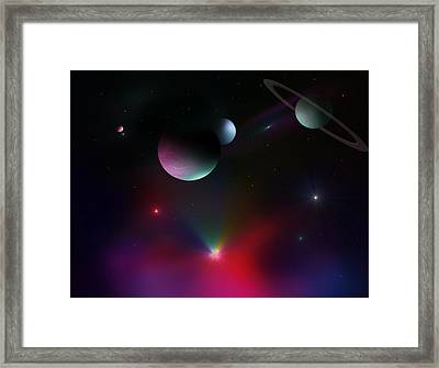Colorful Cosmos Framed Print by Ricky Haug