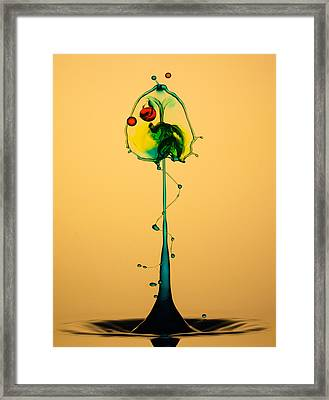 Colorful Collision Framed Print