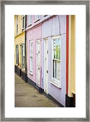Colorful Cottages Framed Print