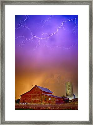 Colorful Country Storm Framed Print