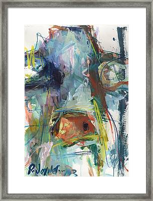 Colorful Cow Print Framed Print