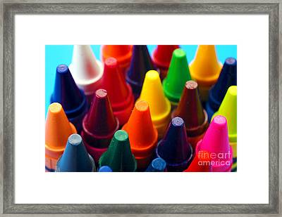 Colorful Crayons Closeup Framed Print