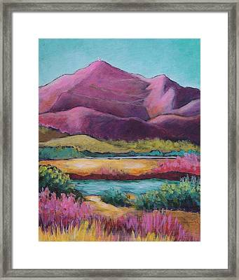 Colorful Cristo Rey Framed Print