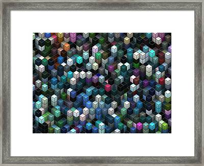 Colorful Cubes Framed Print by Jack Zulli
