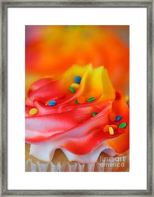 Colorful Cup Cake Framed Print