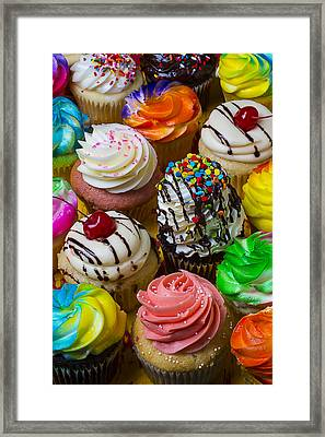 Colorful Cupcakes Framed Print by Garry Gay