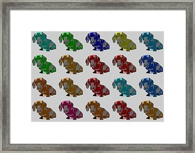 Colorful Dachshund Pop Art Poster Framed Print by Dan Sproul