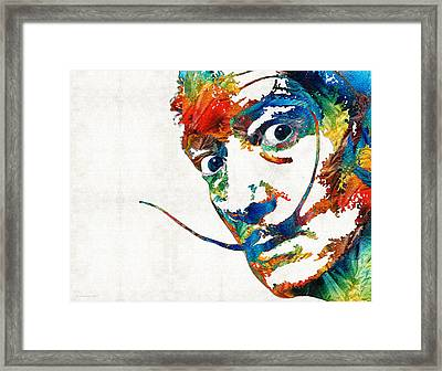 Colorful Dali Art By Sharon Cummings Framed Print