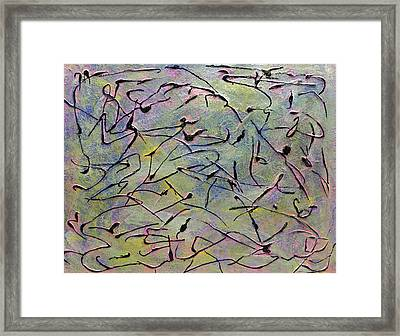 Colorful Dance Framed Print by Dolores  Deal