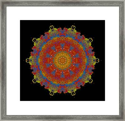 Colorful Decagon Kaleidoscope Framed Print by Dan Sproul