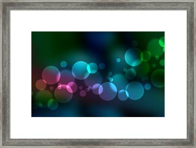 Colorful Defocused Lights Framed Print by Aged Pixel