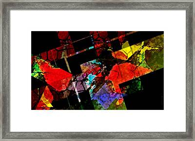 Colorful Design In Digital Art Framed Print by Mario Perez