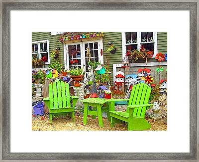 Colorful Display Framed Print by Barbara McDevitt