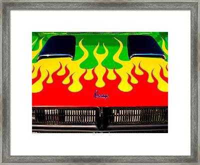 Colorful Dodge Hood Framed Print