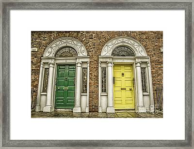 Colorful Doors In Dublin Framed Print