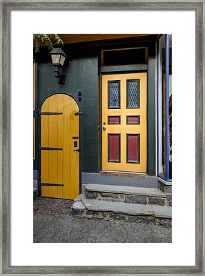 Colorful Doors Framed Print by Susan Candelario