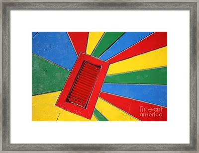 Colorful Drain Framed Print by James Brunker