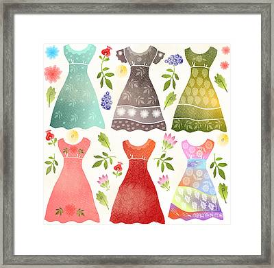 Colorful Dresses Framed Print by Elaine Jackson