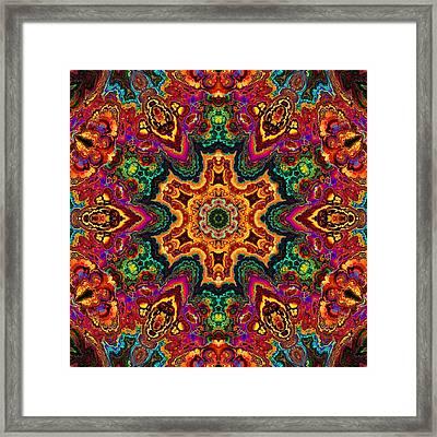 Colorful Enamel Snowflake Framed Print by Lilia D