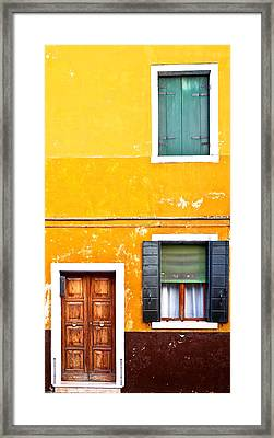 Colorful Entry Framed Print by Susan Schmitz