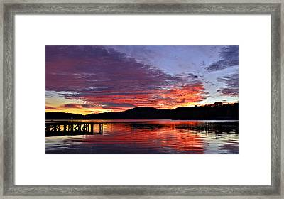 Colorful Evening Framed Print by Susan Leggett