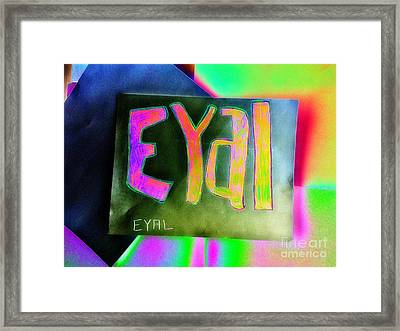 Colorful Eyal  Framed Print
