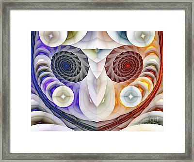 Colorful Face Framed Print by Odon Czintos