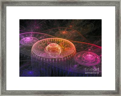 Colorful Fantasy Landscape Framed Print