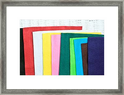 Colorful Felt Framed Print by Tom Gowanlock