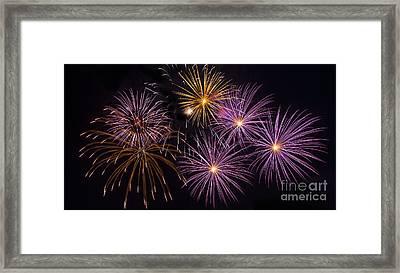 Colorful Fireworks Framed Print