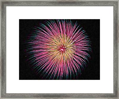 Colorful Fireworks Framed Print by Lanjee Chee