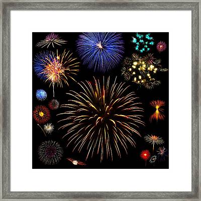 Colorful Are Fireworks Framed Print by Stanley Mathis