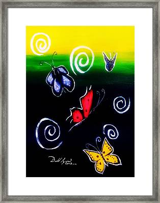 Colorful Flight Iv Framed Print by Donald Lyons