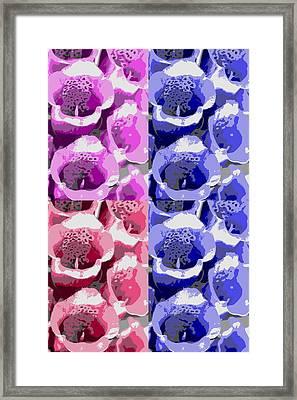 Colorful Flowers  Bells Framed Print by Tommytechno Sweden