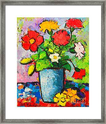 Colorful Flowers From My Garden Framed Print